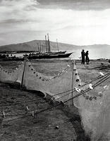 Nets and people, Lake Chapala, Mexico, 1941